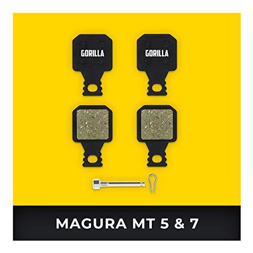 Magura Bremsbeläge MT-5 MT-7 Typ 8 für Fahrrad Scheibenbremse I Organisch I Hohe Bremsleistung I Langlebiger & Passgenauer Bremsbelag