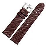 18mm 20mm Genuine Leather Watch Band Strap Buckle for Vacheron Constantin Watch (18mm, Brown(Silver Buckle)) -  Richie strap