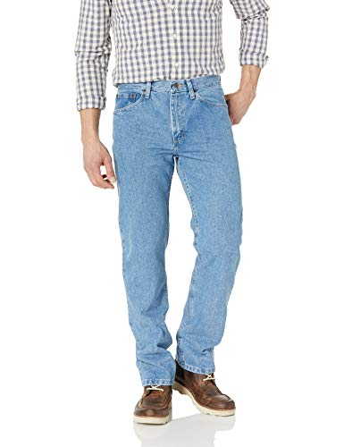 Wrangler Authentics Men's Classic 5-Pocket Regular Fit Cotton Jean, Light Stonewash, 34W x 30L