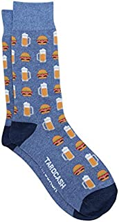 Tarocash Men's Burger & Beers Sock for Going Out Smart Occasionwear Formal
