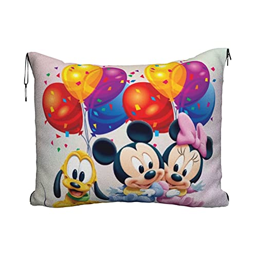 Cartoon Mickey Mouse azúcar Minnie bebé viaje almohada manta portátil viaje 2 en 1 manta avión mantas super suave acogedor