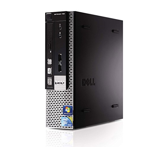Computer fijo UltraSlim Dell OptiPlex 780USFF 160GB disco duro 4GB RAM Windows 7Pro Intel Core 2Duo (ricondizionato Certificado)