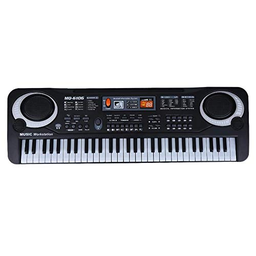 %9 OFF! Electric Piano, 61-Key Electric Digital Key Board Piano Musical Instruments Kids Toy with Mi...