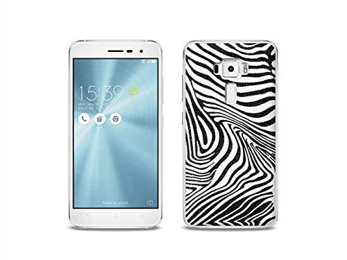 etuo Handyhülle für ASUS Zenfone 3 (ZE520KL) - Hülle, Silikon, Gummi Schutzhülle - Zebra