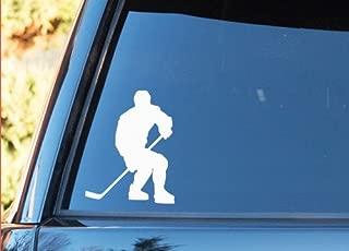 Hockey Player - Vinyl Decal - Car Phone Helmet - SELECT SIZE