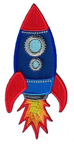 PatchMommy Rakete Patch Aufnäher Applikation Bügelbild - zum Aufbügeln oder Aufnähen - für Kinder/Baby