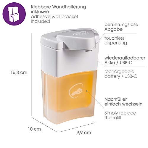 HAGI Sapone in Schiuma erogato Senza Contatto dal Dispenser Automatico di Schiuma (Batteria)