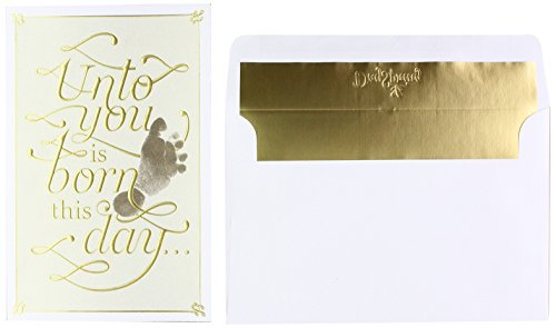 DaySpring Unto You is Born This Day - 18 Premium Christmas Boxed Cards, KJV