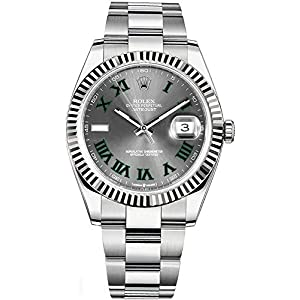 Fashion Shopping Rolex Datejust 41 Grey Dial with Green Roman Numeral Markers