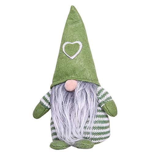 PETUNIA Decoración navideña Gorra de Amor Postura de pie sin Rostro diseño de Escena de muñeca decoración del hogar decoración decoración de la habitación Verde