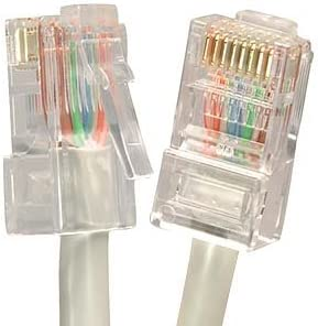 5 Pack Gray 350MHZ Professional Series 1Gigabit//Sec Network//Internet Cable Ethernet Cable CAT5E Cable UTP CMR Riser Rated Non-Booted 20 FT InstallerParts