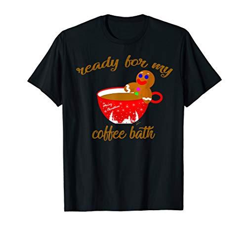 Lebkuchenmann in Weihnachtstasse lustiges süßes Kaffee T-Shirt