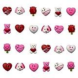 QINGQIU 24 PCS Valentines Day Mochi Squishy Toys...