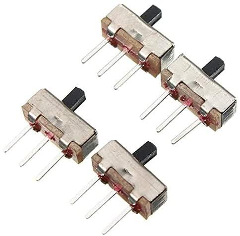 RIMEI SS12D00G3 2 Posiciones SPDT 1P2T 3 Pines PCB Panel de Accesorio Mini Interruptor Deslizante Vertical 600 Piezas Piezas de módulo electrónico