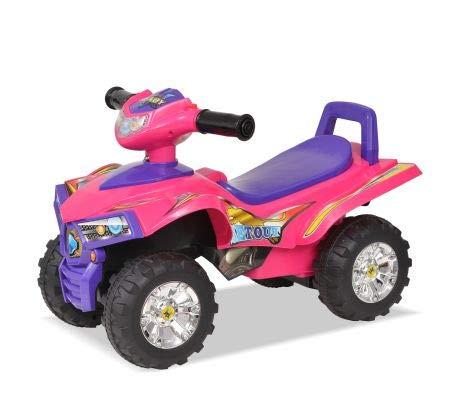 Bicicleta de montaña para niños con rosa y morado, aspecto fresco con efecto luminoso y sonido, edad recomendada: 12 a 36 meses, 60 x 38 x 42 cm