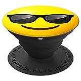 lustiges schwarzes emoji smiley emojis emoticon glückliches - PopSockets Ausziehbarer Sockel und Griff für Smartphones und Tablets