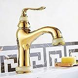 Cuerpo del grifo del baño grifo de lavabo grifo de cobre grifo de lavabo de oro grifo de lavabo de una manija grifo de lavabo