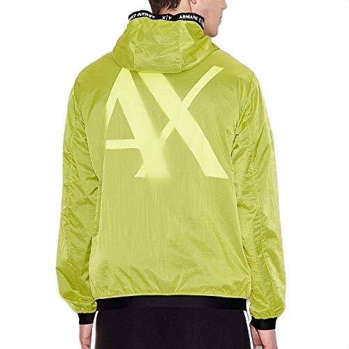 AX Armani Exchangee男式带帽拉链夹克