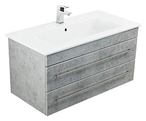 Badmöbel mit Villeroy & Boch Venticello Waschbecken 100 cm Beton