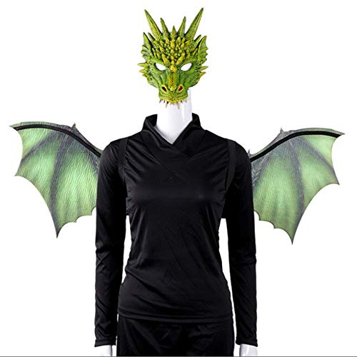 Halloween Dragon Set met masker partij niet-geweven Dragon Mask Wings kleding accessoires volwassen rol spelen rekwisieten