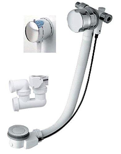 Ab-/Überlaufgarnitur mit Wassereinlauf, 90cm lang, für Badewannen, Komplett-Set