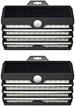 2-Pack Baseus 260Lumens 89LED Solar Security Lights with Lights Reflector