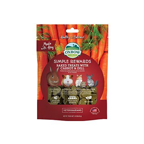 Nieuwe Oxbow Simple Rewards alle natuurlijke ovens gebakken behandeld met wortels, dil en timothy heu