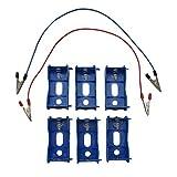 TNBF 単一 電池 箱 ボックス 直列 並列 接続 ミニ 四駆 ならし モーター 配線 コード セット 乾電池 でんち 青 6
