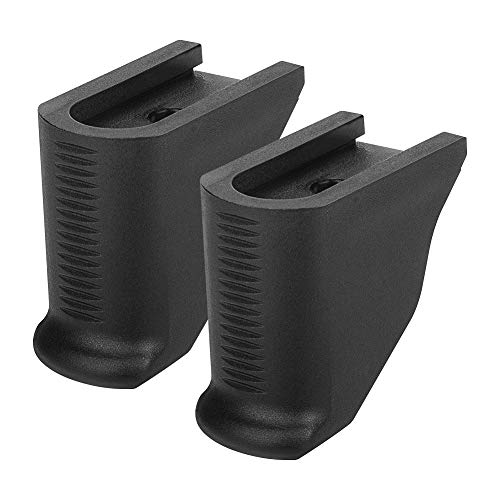 Aecktech Grip 2 Pieces Extensions Fits Ruger LCP 380 and LCPII 380 Black