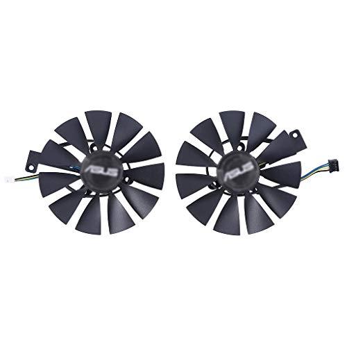 GREEN&RARE Ventilador de refrigeración GPU de 87 mm, T129215SH FDC10U12S9-C 4Pin RTX 2060 2070 2080 Dual Advanced OC Fans para ASUS GeForce RTX2080 RTX2070