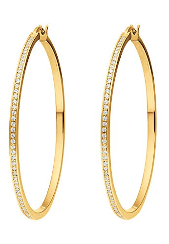 JETTE Silver Damen-Creolen 925er Silber One Size Gold 32010185