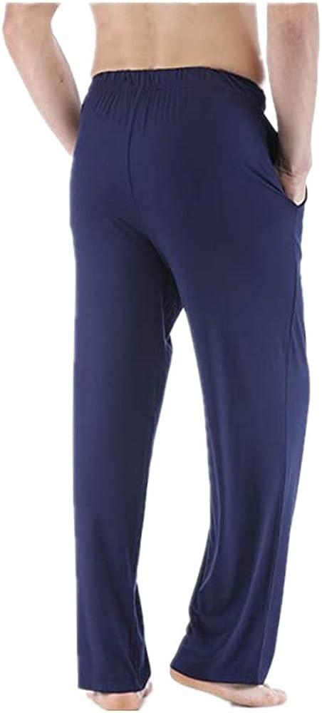 GUTHERREN Mens Pajama Pants Lightweight Lounge with Pockets Soft Sleep Pj Bottoms