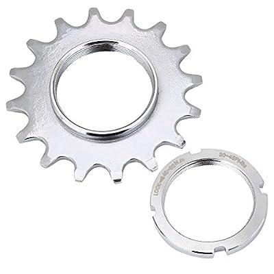 Bike Freewheel, High Strength Steel Single Speed Freewheel Flywheel Sprockets Parts for Fixed Gear Bike Bicycle(16T)