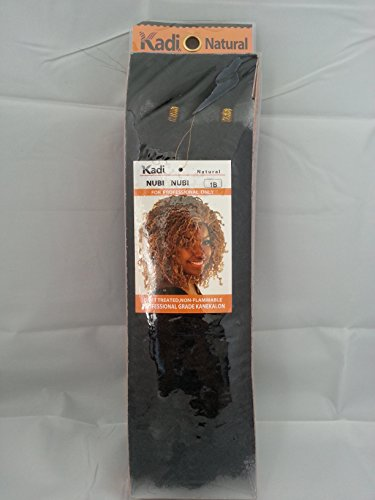 Kadi Natural Nubi Nubi Braiding Style, Hair Extension, Professional Grade (1B - Off Black)