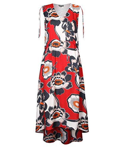 Marc O'Polo Damen Kleid Seide Dress Floral Rot 36
