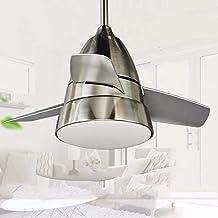云TAOBeautiful Lighting City/Fan Light European Design Stainless Steel Fan Living Room Dining Room Bedroom Bathroom Ventila...