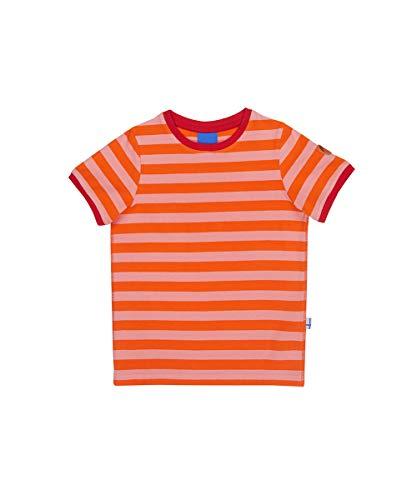 finkid Finkid Renkaat carrot coral Kinder Blockstreifen Jersey T-Shirt mit UV-Schutz