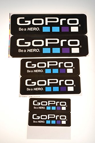 Aokland 6pcs/lot Fashional Cool Icon Sticker for Gopro Hero 3+ 3 2 1 Gopro Accessories