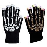 Guantes mágicos de 7 modos de colores LED de luz rave e iluminación de dedos intermitentes, guantes unisex – un par, color Negro, talla Talla única