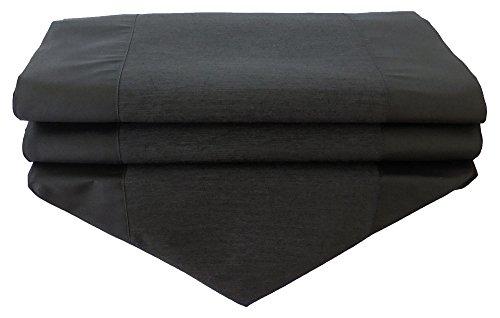 soljo- nappe tablerunner chemin de table lin soie thaïlandaise élégante précieux uni 150/200/250 cm x 30 cm beaucoup de couleurs pour le choix (noire, 250 cm x 30 cm)