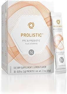 Neruim Prolistic Pre Probiotic Plus Vitamins Dietary Supplement Lemon Flavor