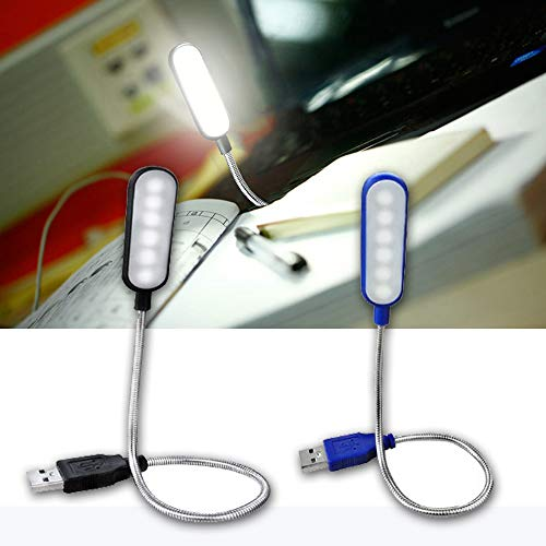 1 x flexible Mini USB LED Mini USB LED Lampe USB Licht fur Laptop Leselampe USB betriebene LED Lampe tragbares USB Laptop Licht schwarz