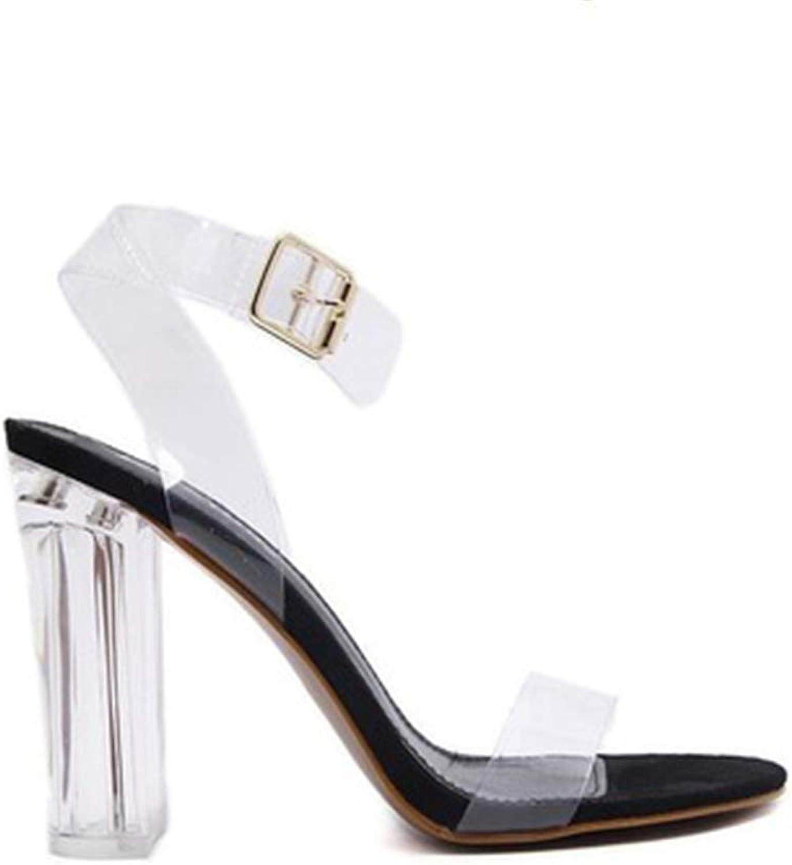 Excellent.c Women's one-Button Sandals Fashion high Heel Sandals high Heels
