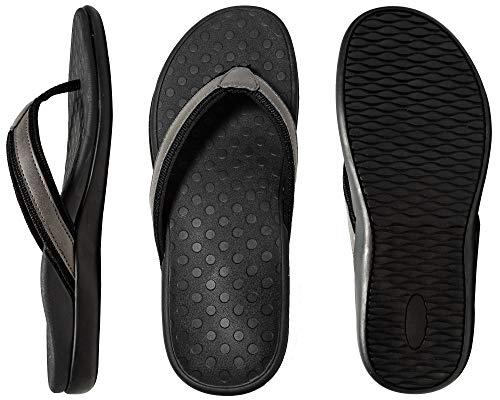 LLSOARSS Plantar Fasciitis Feet Sandal with Arch Support - Best Orthotic flip Flops for Flat Feet,Heel Pain- for Women