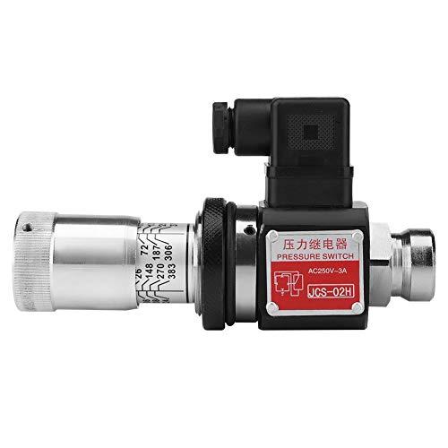 Hydraulisches Druckrelais-Schaltventil, JCS-02H PT1 / 4-Rohr Hydraulisches Druckrelais 5-35Mpa 50-350kg / cm2 für Pneumatik-, Hydraulik- und Ölsysteme 4,8 * 8,2 * 4,3 cm
