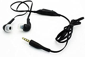 Sound Isolating Handsfree Headset Earphones Earbuds w Mic Dual Headphones Earpieces Stereo Flat Wired 3.5mm [Black] for Amazon Fire HD 10, 8, Kindle DX, Fire, HD 6, 7, 8.9, HDX 7, 8.9