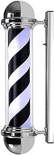 SAFGH Luz giratoria para peluquería al Aire Libre, 65 cm, Impermeable, Poste de luz de Barbier y Giratorio, peluquería, Le...
