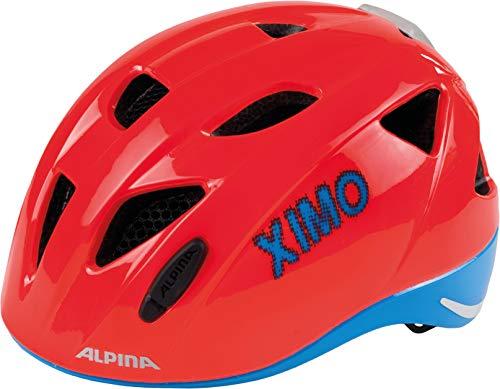 ALPINA Radhelm Ximo Flash Casco de Bicicleta, Infantil, Rojo neón y Azul,...