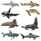 YIJIAOYUN 8 Piezas de océano Grande, Figura Animal de mar, Molde de plástico 6' Juguete Educativo de Criatura Preescolar Educativo para niños