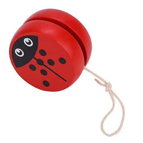 Gaeirt 3-6 Years Old Yoyo Toy, Early Education Teaching Toy for Kid Child, Wooden Beginner Yoyo Ball with Cute Cartoon Pattern Thread Control Toys Great Accessory for Kids to Play (Beetle)